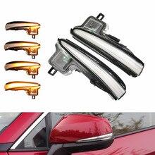 Car LED Dynamic Blinker Turn Signal Light Sequential Side Mirror Indicator For Toyota Alphard Vellfire 2016-2019 RAV4 Highlander car reversing light led for toyota alphard t15 9w 5300k retreat assist lamp alphard car light refit