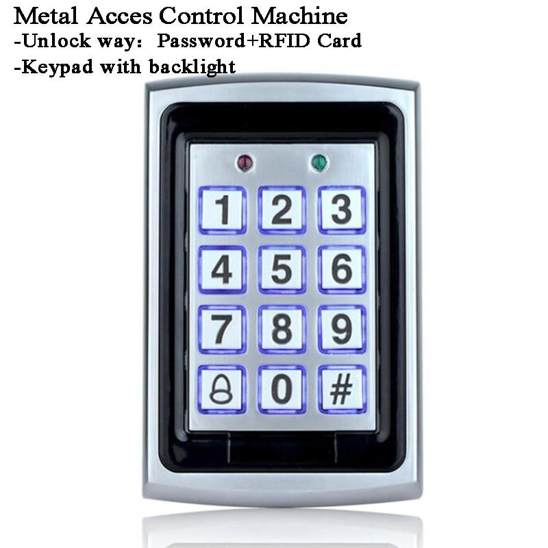 RFID Door Lock Metal Keyboard/Backlight Relay Out Access Control Lock Reader 125KHz ID Card/Code/Password WG26 Office/Factory