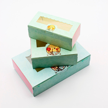10 PCS Paper Gift Box Wedding Candy Cookie Sweet Gift Boxes Wedding Party Kids Birthday Favor Cake Gift Box Packaging Window 50 pcs gift box packaging wedding favor paper cake box cookie candy handmade cupcake birthday party present box with window dots