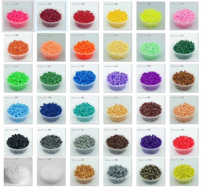 330pcs/box Packing 5MM Hama Beads Diy Toy 48kinds Colors Foodgrade Perler Iron Beads PUPUKOU Fuse Beads Kids Education Puzzle To
