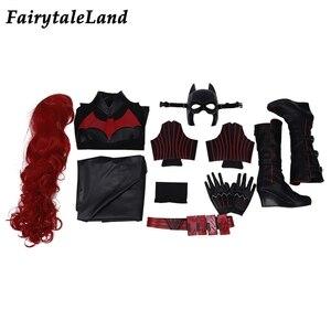 Image 3 - Костюм для косплея Batwoman, костюм на Хэллоуин, костюм для женщин Batwoman, Кэтрин Гамильтон, комбинезон Kate Kane, сексуальная боди накидка, маска с париком