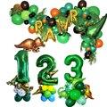 1 комплект динозавров Jungel вечерние шары надувные из фольги детский душ с днем рождения баннер детские игрушки вечерние товары на день рожде...