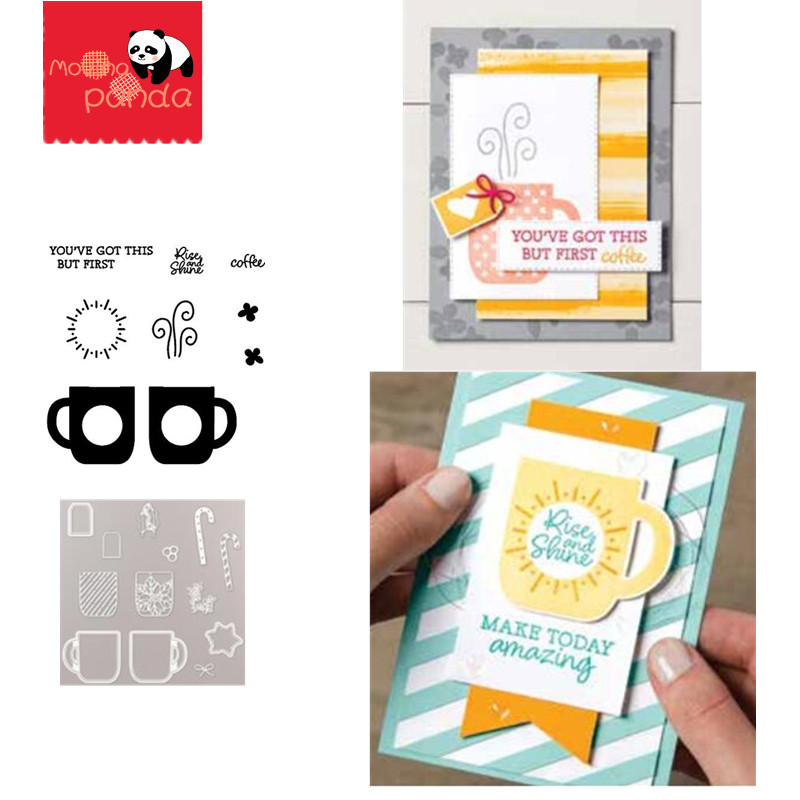 MP093 RISE AND SHINE Metal Cutting Dies And Stamps Embossing Die Stencil For DIY Scrapbooking Album Card Decorative