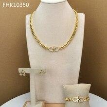 Yuminglai פשוט וקלסי תכשיטי דובאי תלבושות תכשיטי סטי שרשרת סטי לנשים FHK10350
