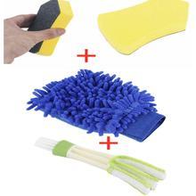 3 szt Szczotki samochodowe szyby przednie rękawice do mycia pędzle samochodowe motocyklowe uniwersalne akcesoria do pielęgnacji czyszczenia szczotki samochodowe tanie tanio FRONT 16cm China Support