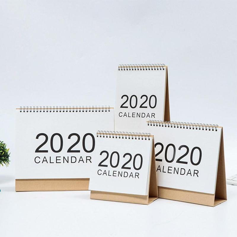 1piece New Simple 2020 Creative Desktop Notepad Calendar Schedule Monthly Daily Plan Stationery School Office Table D2D1