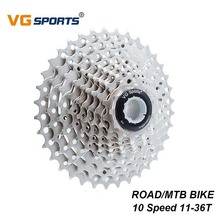 цена на VG Sports 10 Speed Cassette Freewheel Gear Ratio 10S 11-36T MTB Mountain Bike Sprocket Bicycle Accessories For Shimano Cassettes