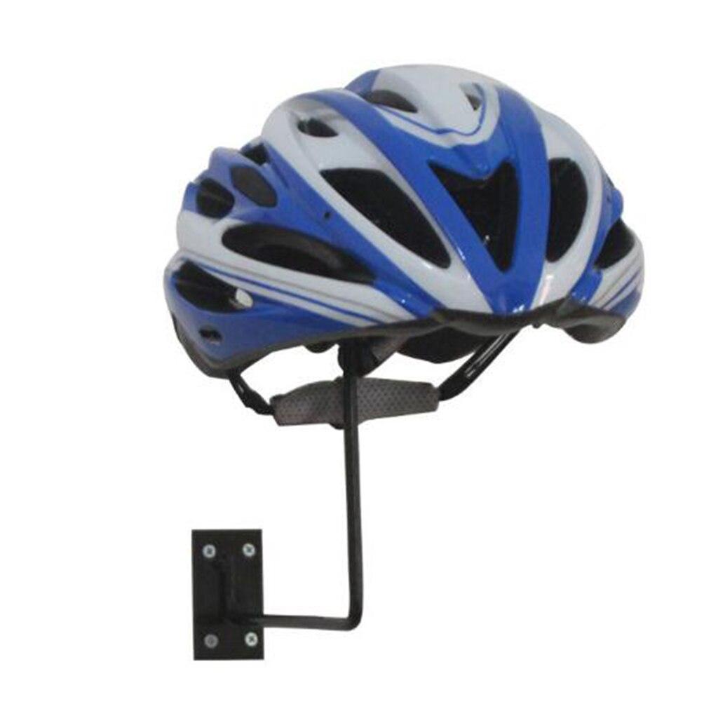 Metal Wall Mounted Motorcycle Helmet Holder Hook Jacket Hat Rack Hanger Display