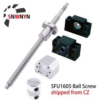 SFU1605 Set Rolled Ball Screw With End Machined+Ballnut+Nut Housing+BK/BF12 End Support+Coupler RM1605 Ballscrew Free Shipping sfu1605 ballscrew set sfu1605 550mm ballscrew 1605 ball nut bk12 bf12 6 35 10 coupler cnc parts rm1605