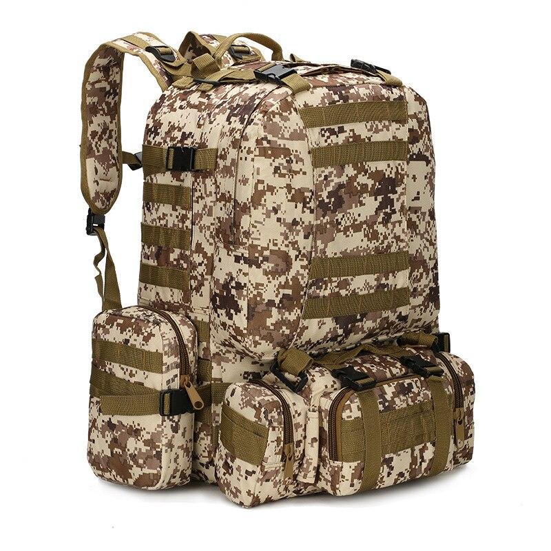 50L sac à dos tactique 4 en 1 sacs militaires armée sac à dos sac à dos sac de Sport en plein air hommes Camping randonnée voyage escalade sac