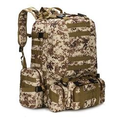 Plecak taktyczny 50L 4 w 1 torby wojskowe plecak wojskowy torba sportowa na zewnątrz mężczyźni Camping turystyka podróżna torba wspinaczkowa|Torby wspinaczkowe|Sport i rozrywka -