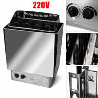 220V 3KW Sauna Heater Stove Wet Dry Stainless Steel Internal Control Home Bath Spa Relaxes Tired Weight Loss