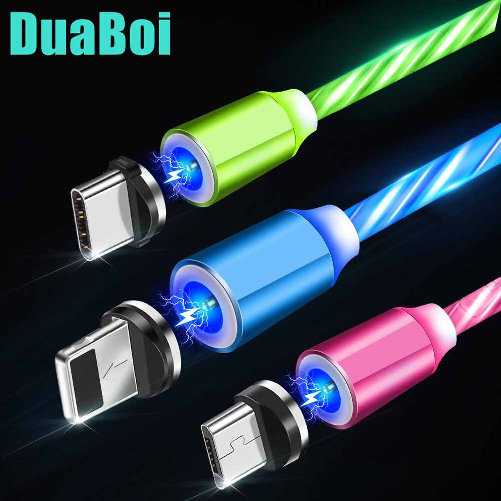 For Huawei P8 P9 P20 P30 lite P Smart 2019 LED Following Light Magnetic Type C USB Cable Fast Charger Micro USB Redmi Note 8 Pro|Mobile Phone Cables|   - AliExpress