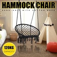 Nordic Style Black Round Hammock Mesh Hanging Chair Furniture Outdoor Garden Swinging Camping Hammock Bed Children Adult