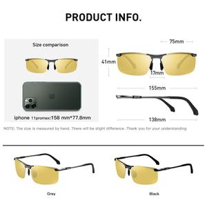 Image 5 - CAPONI Nachtsicht Sonnenbrille Polarisierte Photochrome Sonnenbrille Für Männer Oculos Gelb Driving Gläser gafas de sol BSYS3066