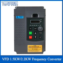 Vfd Omvormer 1.5KW/2.2KW Frequentieomvormer Frequentieregelaar 1HP Input 3HP Uitgang Voor Cnc Motor Driver Speed Control