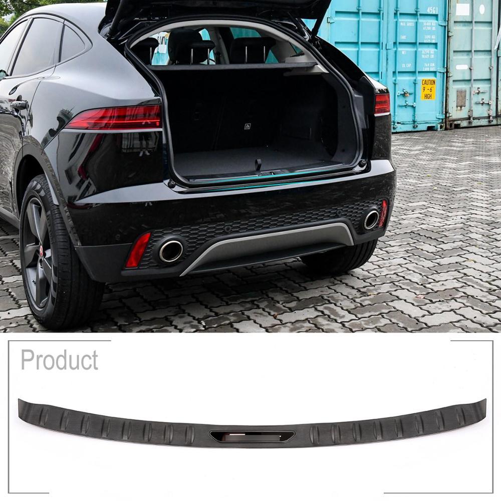 Нержавеющая сталь Черный титан стиль автомобиля хром внешняя задняя полоса для отделки дверей отделка Аксессуары для Jaguar E PACE