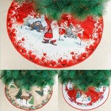 Украшение для юбки в виде рождественской елки, диаметр 39 дюймов, низ рождественской елки, декоративные нетканые наклейки, юбка в виде рождес...