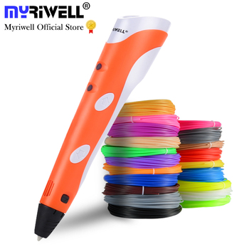 Myriwell 3D Printing Pens 1.75mm ABS Smart 3D Pen with Filament For Kids Child Education Tools Hobbies Toys
