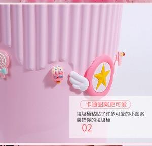 Image 4 - Cartoon Anime Card Captor 사쿠라 크리 에이 티브 패션 쓰레기통 데스크탑 쓰레기 바구니 액션 피규어 홈 오피스 플라스틱 쓰레기통