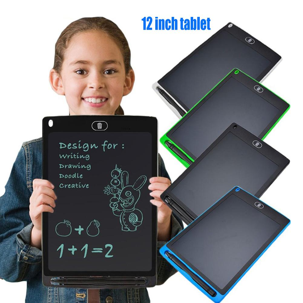 12 inch LCD tablet Children LCD Writing Tablet Graffiti Pad Drawing Board Notepad with Pen For Education Business электроника|Tablet LCDs & Panels| |  - title=
