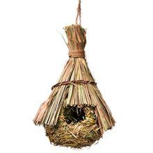 Птичье гнездо натуральная трава яйцо клетка открытый декоративный Плетенный подвесной попугай хоус