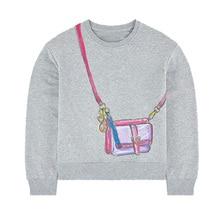 Толстовки для маленьких девочек; хлопковые детские толстовки с аппликацией; Одежда для девочек; рождественские детские топы с единорогом и радугой; свитер для малышей