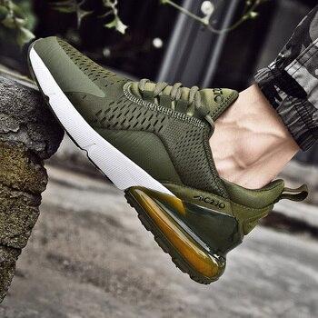 Mężczyźni trampki oddychająca siatka powietrzna Outdoor Sport buty wiosna jesień para poduszka mieszkania treningowe buty do biegania Zapatos De Hombre buty sportowe meskie trekingowe 270