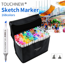 TOUCHNEW 30/40/60/80/168 Colors Dual Head Animation Marker Pen Drawing Sketch Pens Art Markers Alcohol Based Supplies