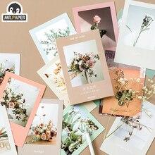 Mr.Paper 30 unids/caja Goodbye Flora Ins estilo tarjetas postales de flores Vintage estilo Retro Escritura Creativa postales de regalo