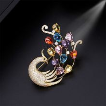 Brooch Pin for men and women high-grade Phoenix Brooch suit with simple personality zircon-inlaid accessories