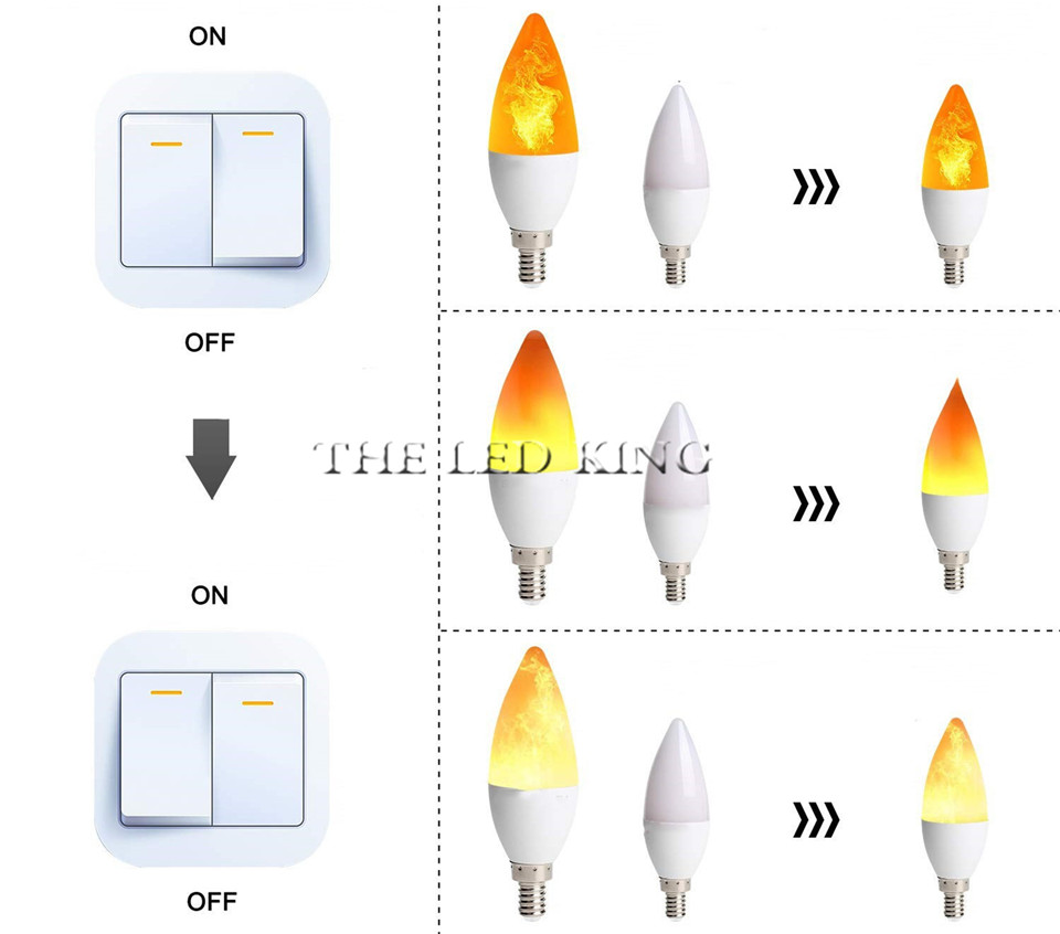 H69bdd14da43a432eb49ca2f91600690dU - Flame Lamps 15W 85-265V 4 Modes Ampoule LED Flame Effect Light Bulb Flickering Emulation Fire Light Yellow/Blue Flame