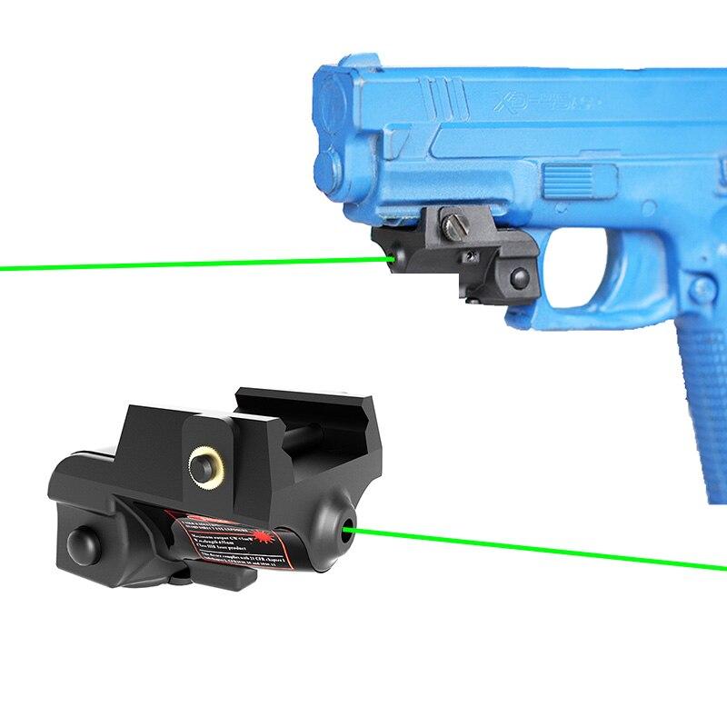 Built in Rechargeable Pistol Airsoft Red Dot Green Laser Pointer Sight for Glock 17 Laser Colt 1911 Self Defense Gun Laser-0