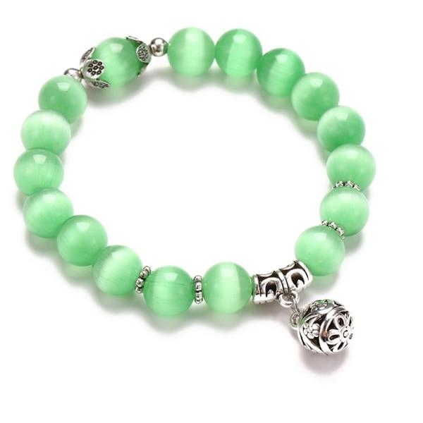 Классический Набор браслетов «Древо жизни» для женщин, многослойный винтажный браслет из натурального камня в виде листьев, браслеты и браслеты, ювелирные изделия, подарки - Окраска металла: 7633