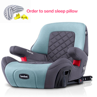 Child Booster Pad 3 12 Years Portable Kids Car Booster Seat Portable Car Safety Chair Baby Dining Seat ISOFIX Interface