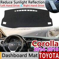 Dla Toyota Corolla E170 E160 2014 2015 2016 2017 2018 mata antypoślizgowa pokrywa deski rozdzielczej Pad parasolka Dashmat dywan akcesoria dywan w Naklejki samochodowe od Samochody i motocykle na