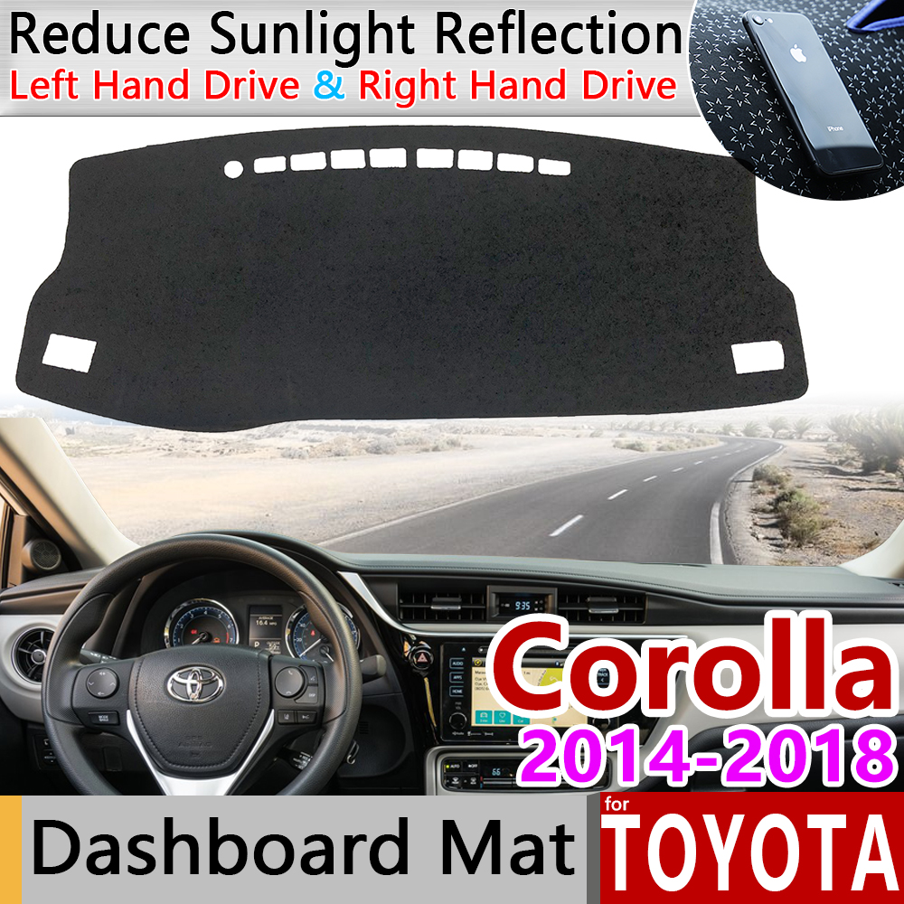 For Toyota Corolla E170 E160 2014 2015 2016 2017 2018 Anti-Slip Mat Dashboard Cover Pad Sunshade Dashmat Carpet Accessories Rug