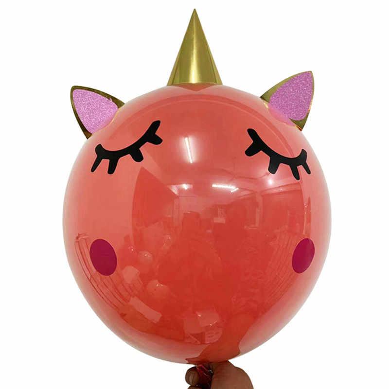 ยูนิคอร์นสีชมพูยูนิคอร์นบอลลูนบอลลูนวันเกิดตกแต่งเด็กบอลลูนวันเกิดบอลลูน Balon Helium 1pcs