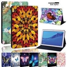 Кожаный чехол подставка для планшета с бабочкой huawei mediapad