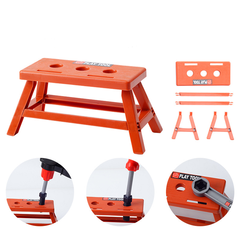 Children's Toolbox Engineer Simulation Repair Tools Pretend Toy Electric Drill Screwdriver Tool Kit Play Toy Box Set for Kids 5