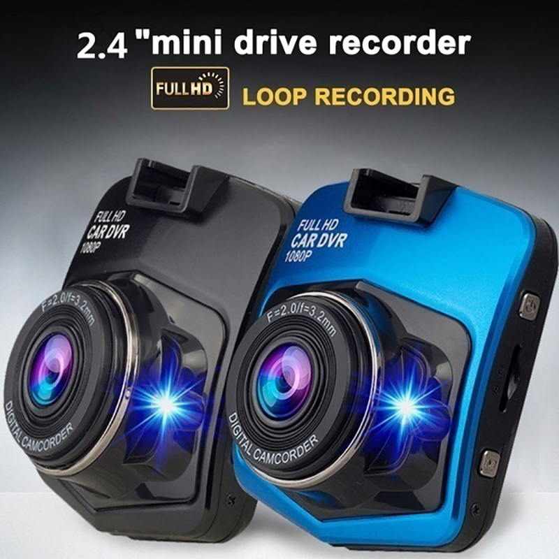 1080P Car DVR Dash Camera Driving Recorder Security Night Vision Loop Recording Wide Angle Full HD Car Dashcam Registrar Black