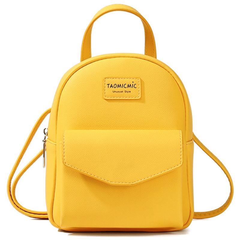 Brand Designer Fashion Women Backpack Mini Soft Touch Multi-Function Small Backpack Female Ladies Shoulder Bag Girl Purse Black