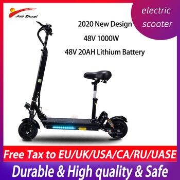 Patinete eléctrico plegable de 48V y 1000W, batería de litio, 45 km/h,...