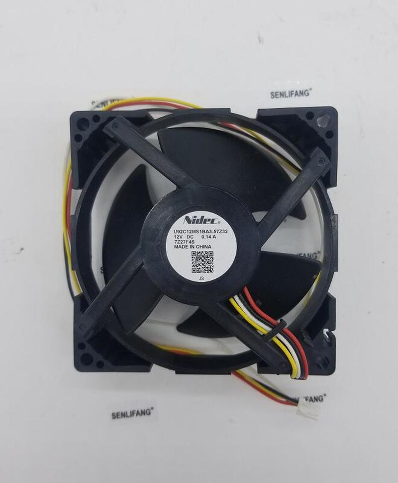 Original Nidec U92C12MS1BA3-57Z32 9cm DC12V 0.14A Refrigerator Built-in Cooling Fan