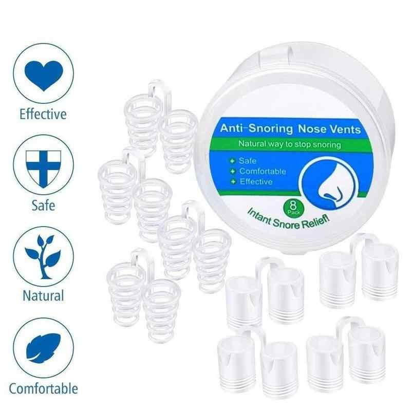8 pz/scatola Vents Soluzione Russare Anti Russare Dispositivi Russare Fermacorda e ganci Naso Russare Nasale Dilatatori