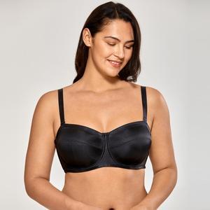 Image 2 - Delimira Womens No Padding Underwire Ultra Support Convertible Strapless Bra