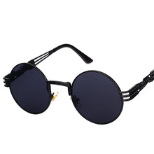 Steampunk Sunglasses Men Women Vintage Round Sun Glasses