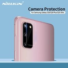 מצלמה נשען כיסוי NILLKIN 2 חבילה מזג זכוכית מצלמה מגן עבור סמסונג גלקסי S20/S20 בתוספת/S20 Ultra /S20 5G/A51/A71 כיסוי