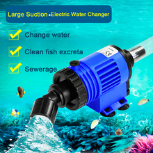 Automatic Fish Tank Water Changer Pump Aquarium Gravel Cleaner Fish Feces Siphon Vacuum Pump Cleaner With Hose Blanket 220V 240V