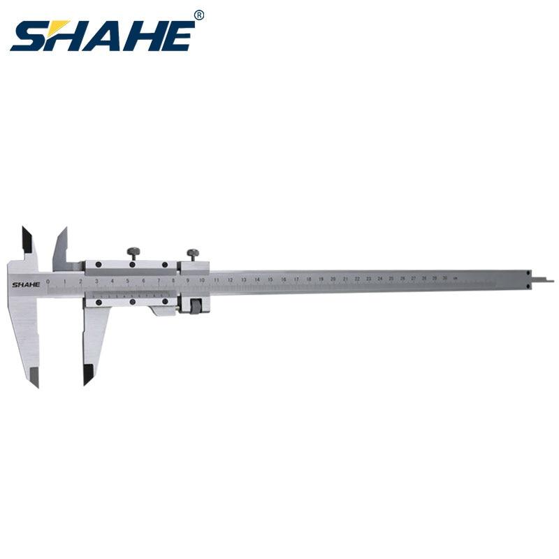Aletler'ten Kumpaslar'de SHAHE 300 mm 0.02mm paslanmaz çelik sürmeli kumpas ölçüm aletleri kumpas Vernier göstergesi 300 mm